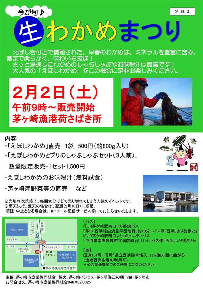 「生わかめまつり」2019 ~えぼし岩付近で養殖された「えぼしわかめ」を直売!
