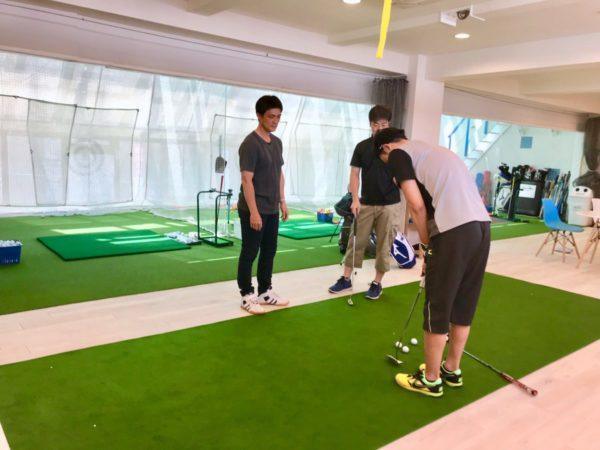 ベルヴィ湘南茅ヶ崎ゴルフスタジオ 実弦コーチのレッスン